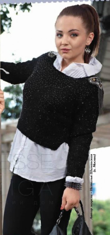 схема вязания спицами модного берета