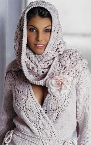красивый жакет и шаль вязание крючком модель 2014 жакет